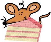 chip cookie mouse with popcorn mouse with cake mouse with sucker A88Yay clipart