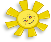 Sunshine happy sun clip art at vector clip art