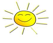 Smiling sunshine clipart