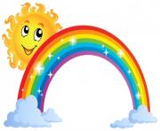 Sunshine and rainbow clipart