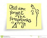 dad don t forget the fireworks reminder notelet from child 7jbDTf clipart