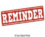 Reminder stamp clip art free clipart images