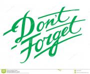 don t forget decorative handwriting reminder memory remember jEkfWM clipart