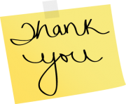 note thank you yellow sticky note with the words thank you on it 3a2HQd clipart