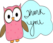 owl thank you image owl thank you clip art ZveV31 clipart