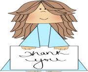 thank you sign clip art image girl holding a thank you sign clip art Y4F3pD clipart