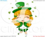 cute st patricks girl in falling clovers by bnp design studio 1053730 U0ElFF clipart