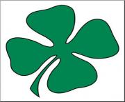 Clip art green four leaf clover shamrock st patrick