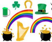 digital clipart saint patricks day graphics shamrock rainbow green st Uc1UqR clipart