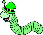 st patrick worm holiday saint patricks day clipart