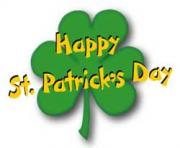 Shamrock with word art st patricks day word art cliparts