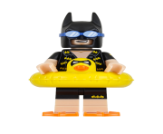 minifigure lego batman going to the pool clipart