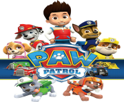 pawpatrol with logo png transparent paw patrol clipart png