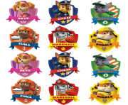 badges paw patrol clipart png