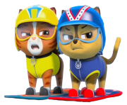 two cats from paw patrol png transparent background