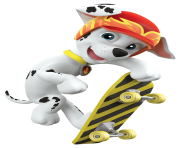 marshall play skateboard paw patrol clipart png