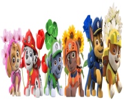 flowers with  paw patrol clipart png