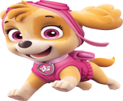 skye is happy paw patrol clipart png