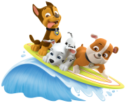 surf with rubble marshall paw patrol clipart png