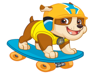rubble play skate board paw patrol clipart png