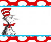 Dr seuss border free images for Dr seuss birthday card template