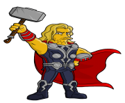 thor from springfield simpsons avengers movie clipart png