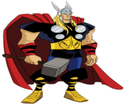 thor cartoon clipart transparent background