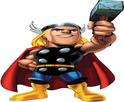 marvel super hero squad thor clipart png