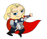 mini thor cartoon clipart