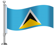 St Lucia Flag PNG Clip Art
