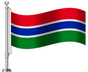 Gambia Flag PNG Clip Art