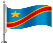 Democratic Republic of the Congo Flag PNG Clip Art