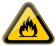 Highly Flammable Warning Sign PNG Clipart