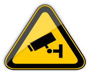 CCTV in Operation Warning Sign PNG Clipart