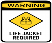 Life Jacket Required Sign PNG Clip Art