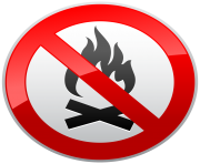 No Fire Prohibition Sign PNG Clipart