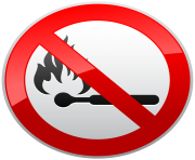 No Naked Flames Prohibition Sign PNG Clipart