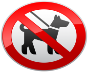 No Dogs Sign Prohibition PNG Clipart