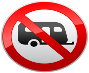 No Caravans Camping Sign PNG Clipart