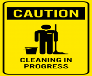 Caution Cleaning in Progres Sign PNG Clip Art