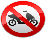 No Motorcycles Sign PNG Clip Art