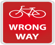 Wrong Way Sign PNG Clipart