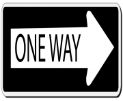 One Way Sign PNG Clipart