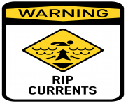 RIP Currents Sign PNG Clip Art