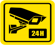 24 Hour Video Camera Sign PNG Clip Art
