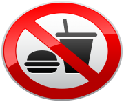 No Eating or Drinking Prohibition Sign PNG Clipart