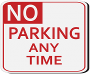 No Parking Sign PNG Clipart
