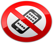 No Activated Mobile Phones Prohibition Sign PNG Clipart