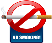Blue No Smoking Warning Sign PNG Clipart