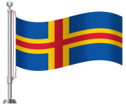 Aland Islands Flag PNG Clip Art